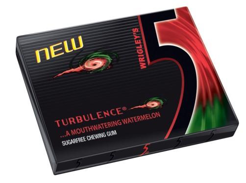 5 gum Packshot Turbulence - Wassermelone Sorte