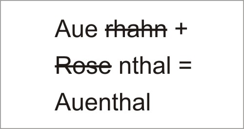 Hybridname durch Kombination der Markennamen Auerhahn und Rosenthal