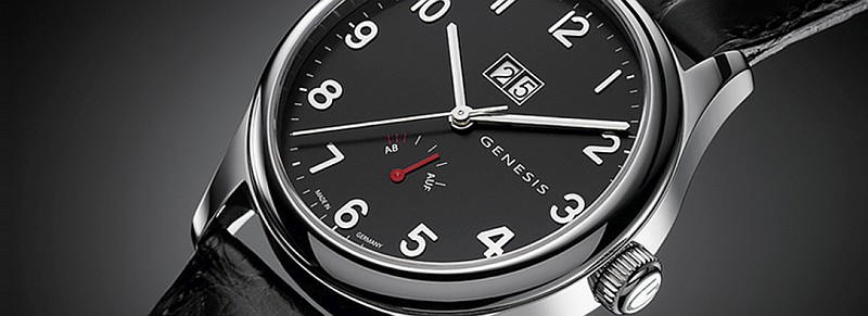 Genesis Armbanduhr mit Gangreserve und Panoramadatum
