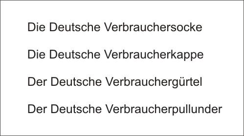 Deutsche Verbraucherweste Alternativnamen