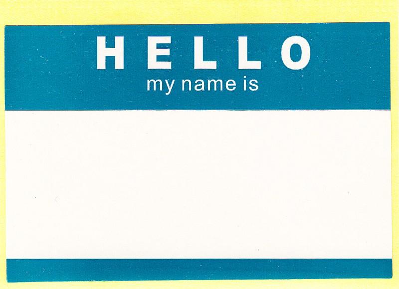 """""""hello my name is"""" Aufkleber"""