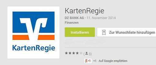 "Mobile App Symbol der App ""Kartenregie"" im Google Play Store"