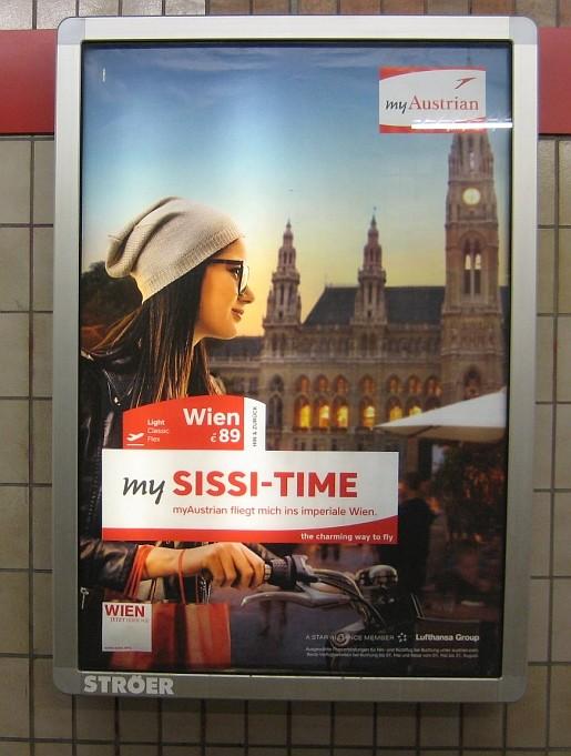 My Sissi Time Plakatwerbung Wien