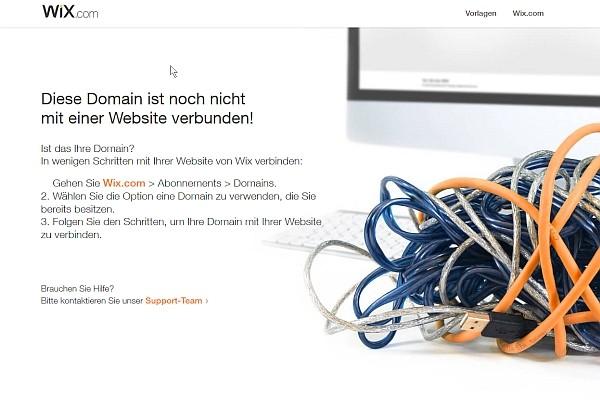 Screenshot des Wix Website-Baukastens