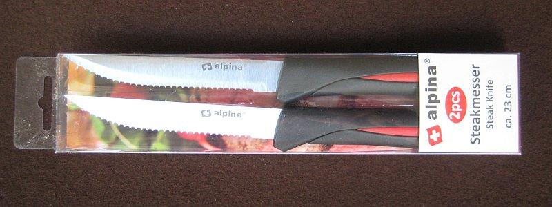 Packung der Alpina Steakmesser, 2 Stück