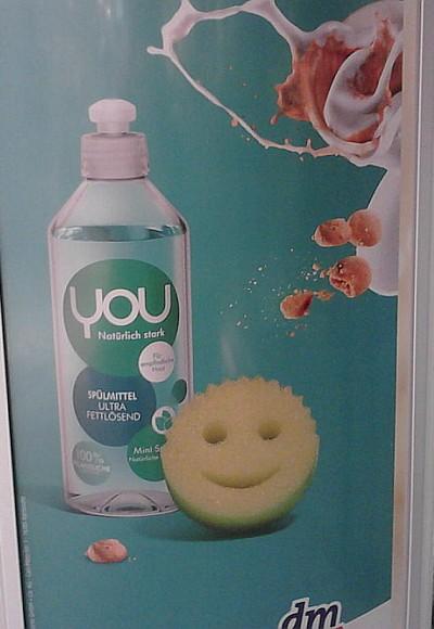 Plakat für Spülmittel YOU bei dm