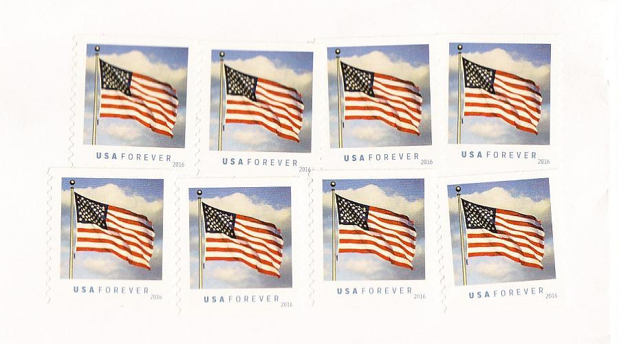 USA Forever Briefmarken Nahaufnahme